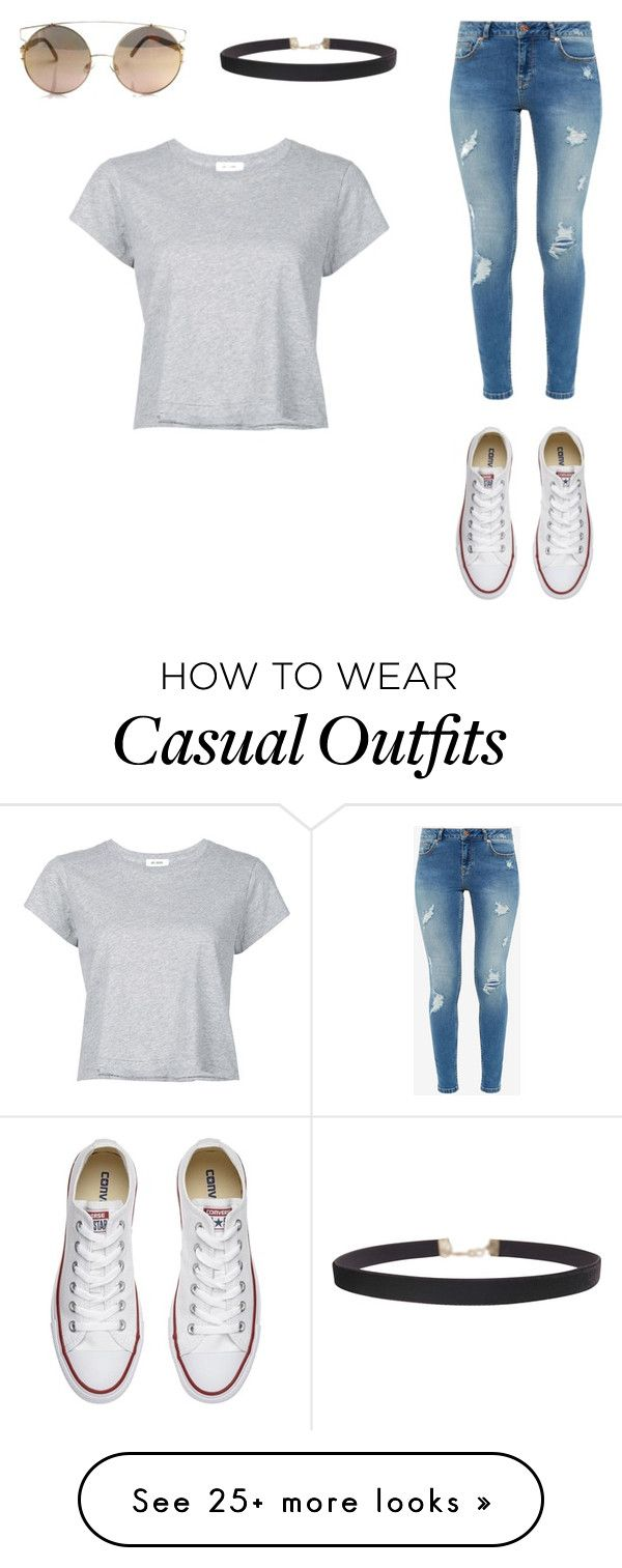 """casual ;)"" by ewirnowski on Polyvore featuring RE/DONE, Ted Baker, Converse and Humble Chic"