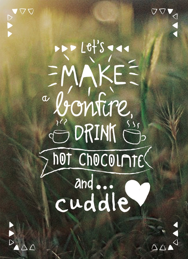 let's make a bonfire, drink hot chocolate and cuddle! // free printable by Velvetine + Hanke Arkenbout designs // click to download full design!