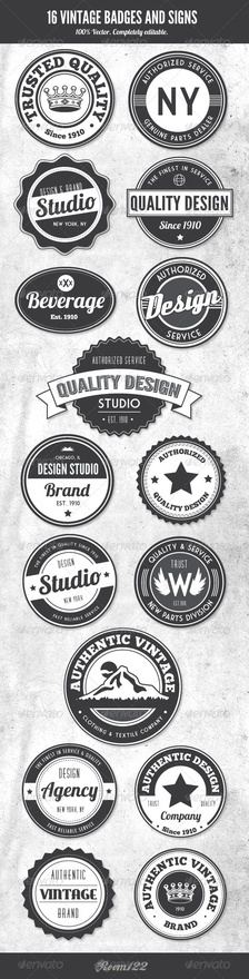 Art Vintage Style Badges and Logos graphic-design