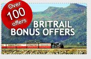 Official BritRail Pass - British Rail, England Train Tickets  BritRail gives visitors an exceptional value money-wise, as well as the flexibility to explore and travel by train within Britain. BritRail has several pass options, senior citizen and student discounts, and 25% discounts during the winter.
