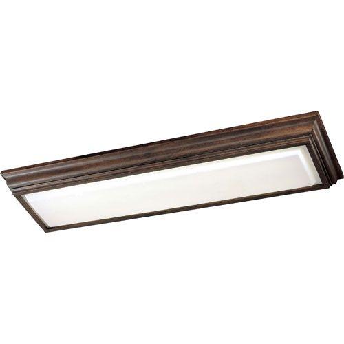 Energy Efficient Belcaro Walnut Two-Light Fluorescent Kitchen Light