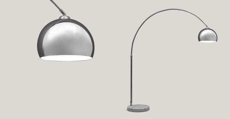 Large Bow Lamp, Chrome