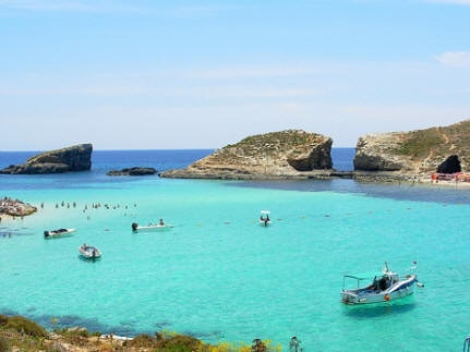 The amazing Blue Lagoon in Comino, Malta
