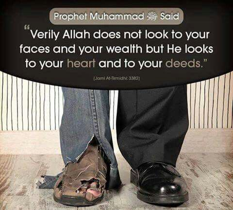 How is your heart and deeds doing? Would Allah be pleased?
