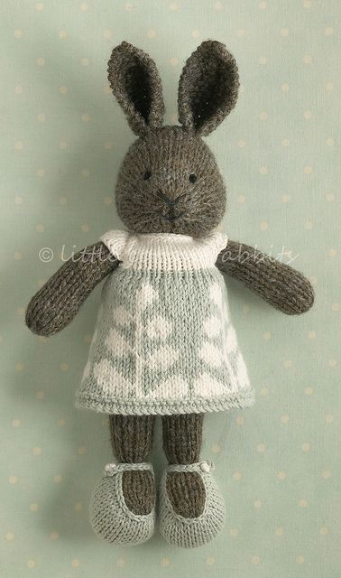 """Cute Bunny Girl - pattern for similar under julia williams """"bunny girl in a dotted dress"""" on ravelry"""