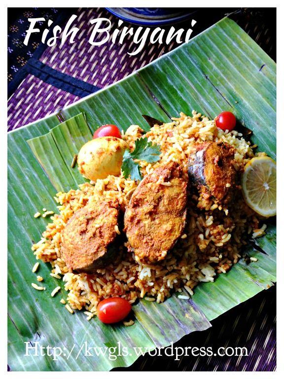 Famous South Asian, South East Asian One pot rice dish - Biryani . This version is with fish. #kenneth_goh #guaishushu #fish_biryani #nasi_briyani_ikan