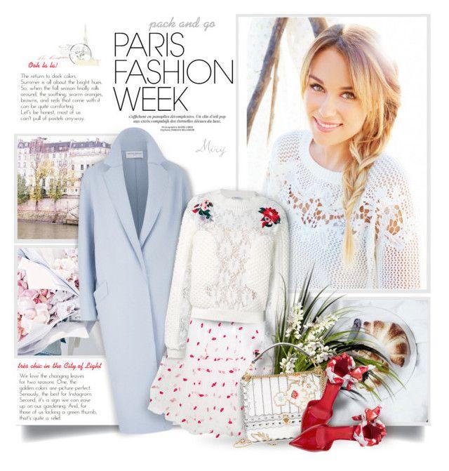 """Paris Fashion Week"" by thewondersoffashion ❤ liked on Polyvore featuring Prada, Amanda Wakeley, P.A.R.O.S.H., VIVETTA, Fendi, Salvatore Ferragamo and LC Lauren Conrad"