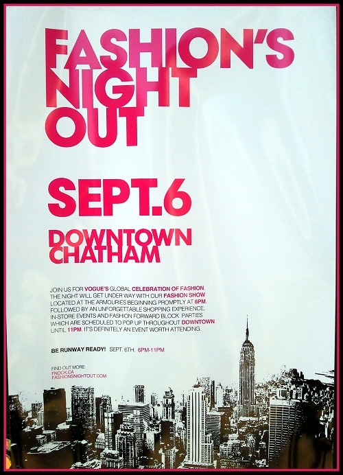 Fashion's Night Out Chatham Sept. 6, 2012