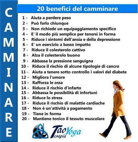 infografica benefici di camminare - Google Search