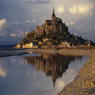 Mont-St-Michel, Normandy. Evening Shot with Reflection Photographic Print by Joe Cornish at Art.com