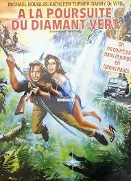 À la poursuite du diamant vert est un film d'aventure américain réalisé par Robert Zemeckis, sorti en 1984. Une jeune romancière à succès part en Colombie à la recherche de sa soeur qui a été kidnappée. Accompagnée d'un aviateur quelque peu blasé, elle affrontera les dangers d'une jungle inhospitalière pour récuperer un fabuleux diamant qui servira de monnaie d'échange.