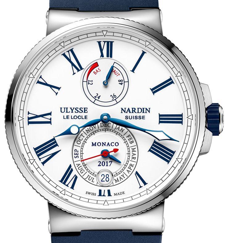 The Ulysse Nardin Marine Chronometer Annual Calendar Monaco  -- a celebration of their sponsorship with the Monaco Yacht Show.