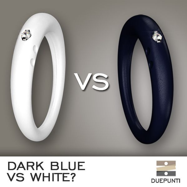 Color:Challenge.  Dark Blue like the sea or Perfect White to compliment your tan?  #duepunti #color #jewels #challenge #white #blue www.duepuntimilano.com