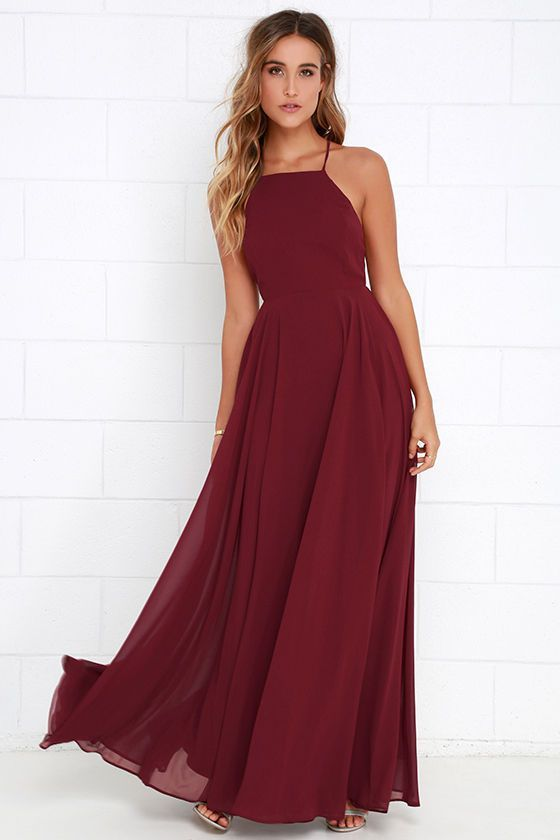 Mythical Kind of Love Wine Red Maxi Dress at Lulus.com!: