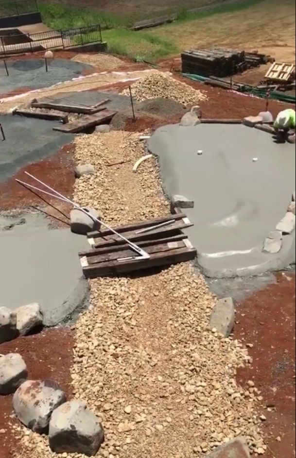 This is going to be a water featureToowoomba City Golf Club - Mini Golf Course