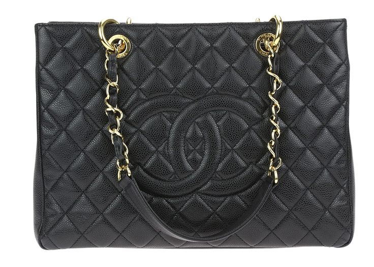 Chanel Black Quilted Caviar GST Grand Shopping Tote
