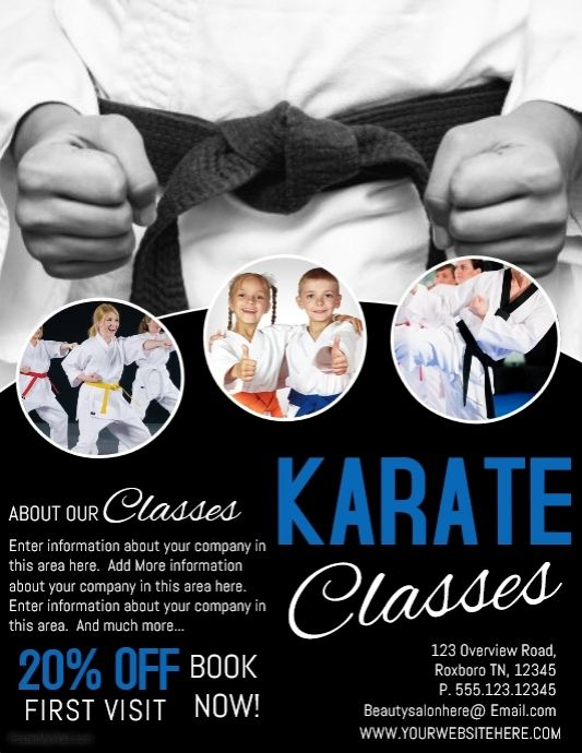 create amazing karate posters by customizing our easy to