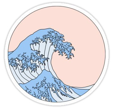 aesthetic wave | Sticker – #Aesthetic #macbook #St…