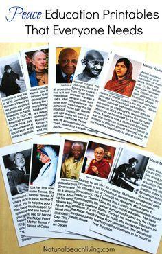 Montessori Peace Education Printables That Everyone Needs, ideas & inspiration for living peacefully, peace education, Montessori peace, Educational printables