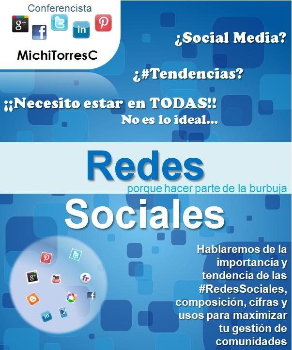 """El próximo viernes 20 de abril, compartiré con Grupos Estudiantiles de la Universidad Eafit de Medellín, la conferencia """"Redes sociales, porque hacer parte de la burbuja"""""""
