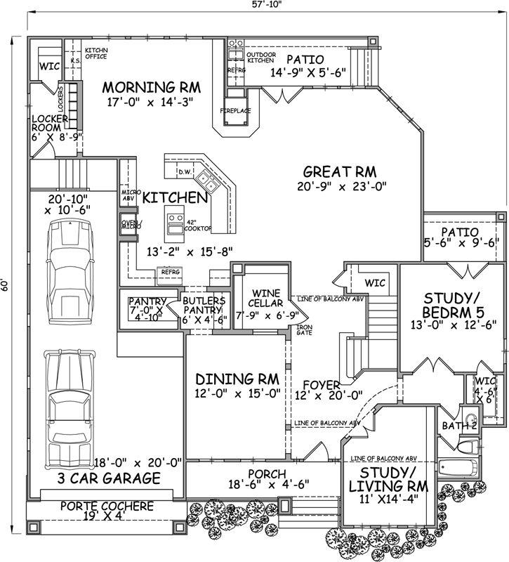 Monster House Plans Porte Cochere House Plans