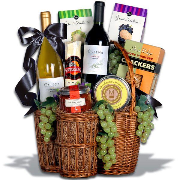 Wine Basket Bridal Shower Gift + Printable Poem Gift Tags