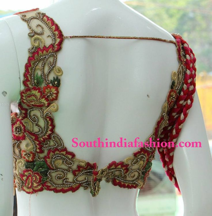 Pin by meg on blouses pinterest blouse designs saree for Sari furniture designer