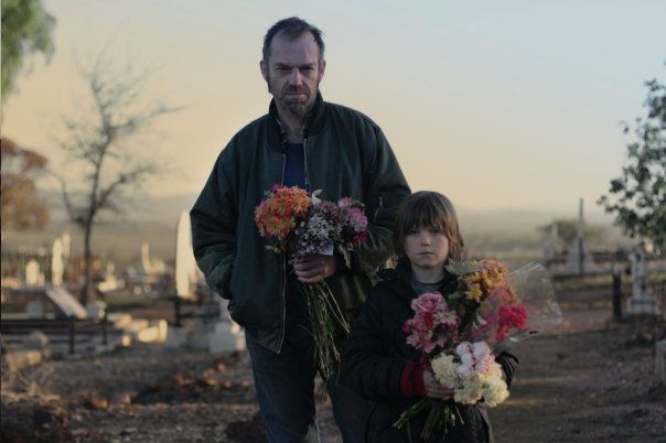 Hugo Weaving and Tom Russell in Last Ride