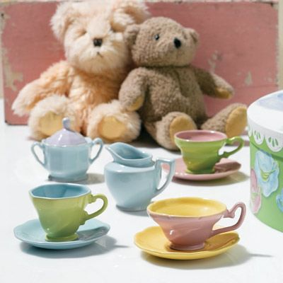 Rossana's Tea for Me Too. Roselyn Sanchez's Layla Grayce designed nursery as seen in Hola! Puerto Rico magazine April 2012. #laylagrayce #press #roselynsanchez #nursery: Tea Party, Tea Time, Tea Sets, Teaparty Laylagrayce, Rosanna Tea, Teas, Tea Parties, Rosanna S Tea