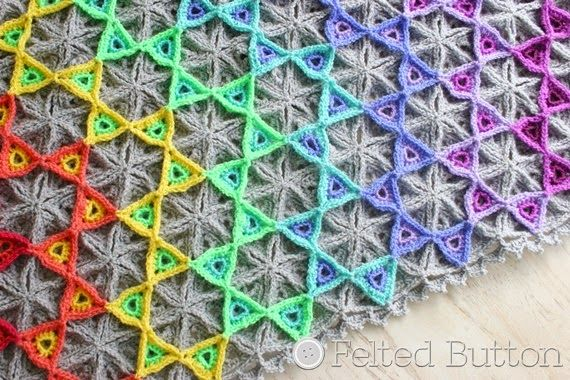 Prism Blanket Crochet Pattern by Felted Button  Pattern for sale