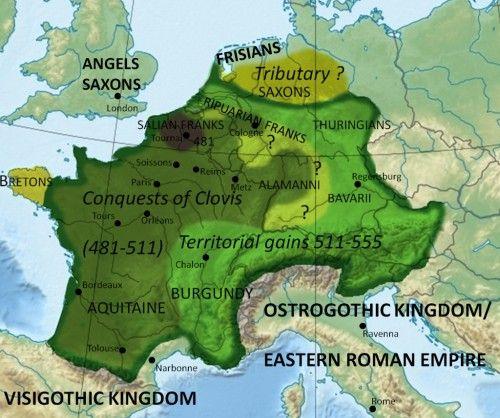 Frankish territory in 555 (Illustration) - Ancient History Encyclopedia