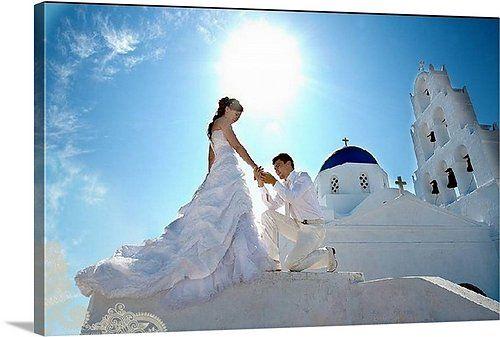 Красивая свадебная фотография на холсте!