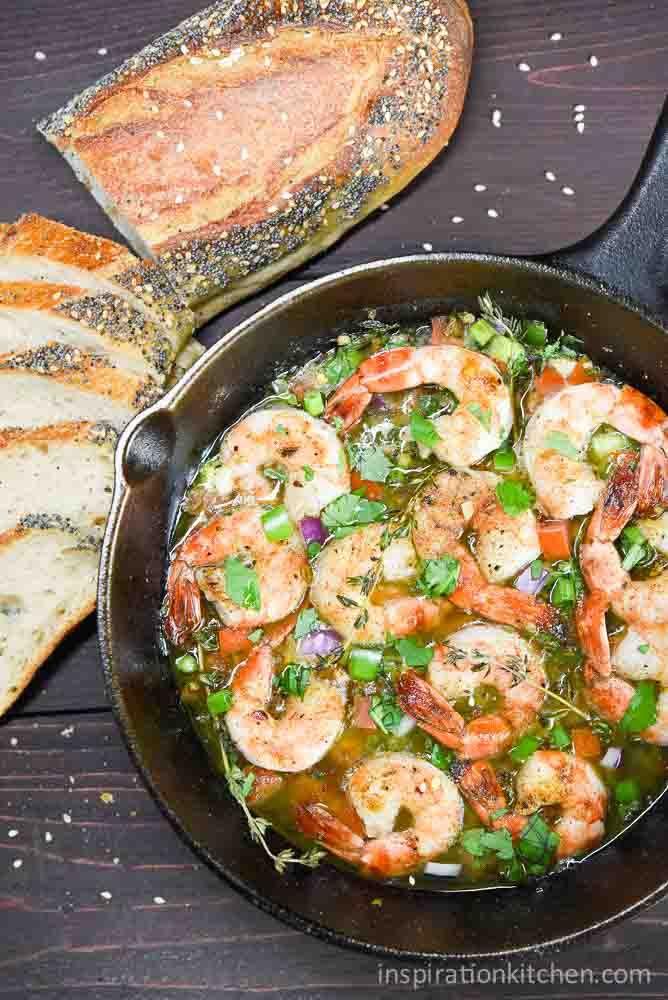 Bahama Breeze Skillet Simmered Jerk Shrimp   Inspiration Kitchen