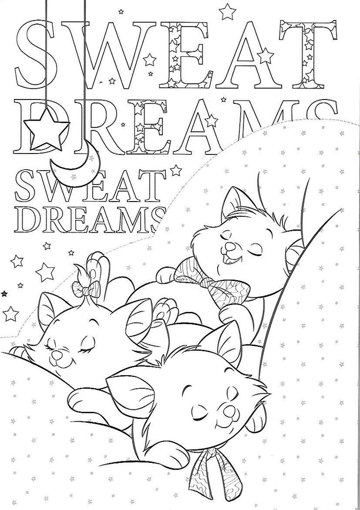 Coloriage ° Les Aristochats in 2020 | Disney coloring ...