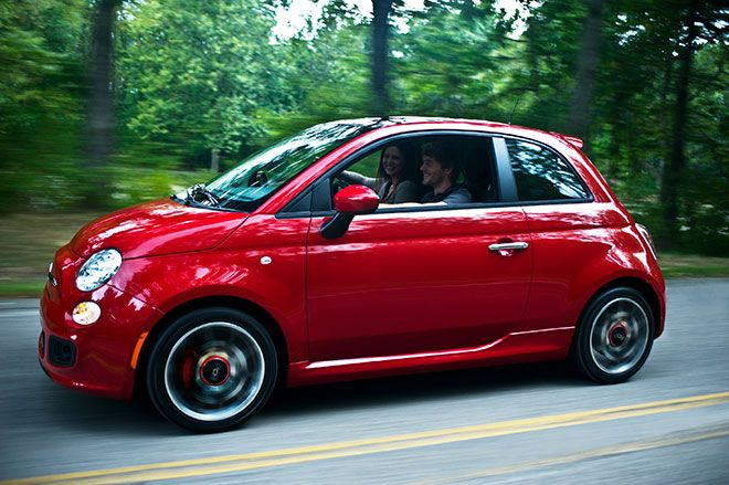 Fiat 500.  You've come a long way from what you were 30 years ago!