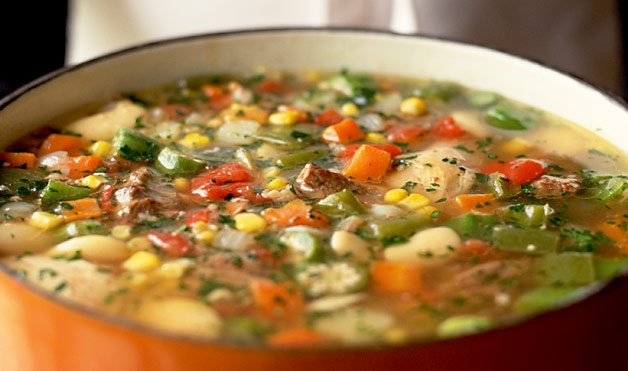 BURGOO -- Anyone from Kentucky can tell you that burgoo is a stew made from multiple meats simmered with veggies. As for the name, it's a toss-up as to its origins. It could be a variation on the French word for meat stew, ragout, a mispronunciation of barbecue or an interpretation of bulgur, from which burgoo was originally made.