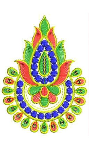 Beaded Dress Applique Embroidery Design