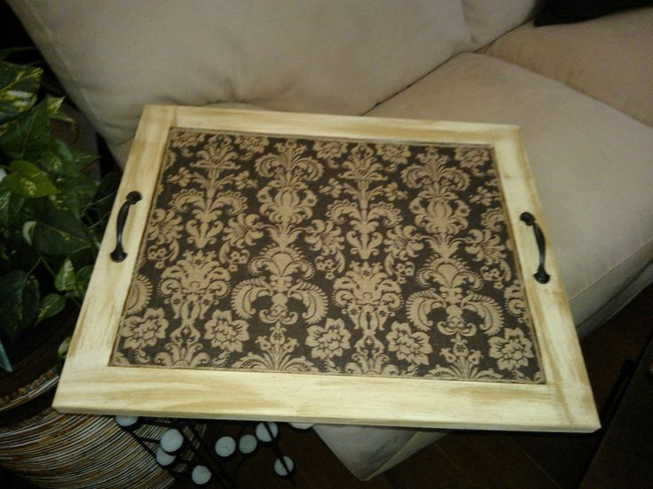 Repurposed Cabinet Door Made Into A Severing Tray By