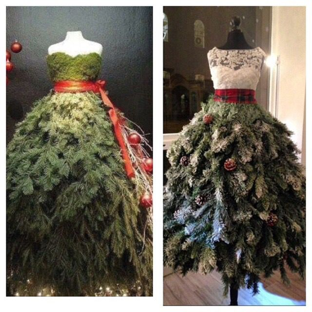 It's a tree... it's a dress... it's a Christmas Tress! Do you love? #ChristmasTree