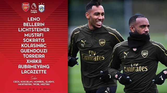 Here Is The Arsenal Lineup To Face Huddersfield Town Do You Like This Lineup Huddersfield Town Arsenal Huddersfield