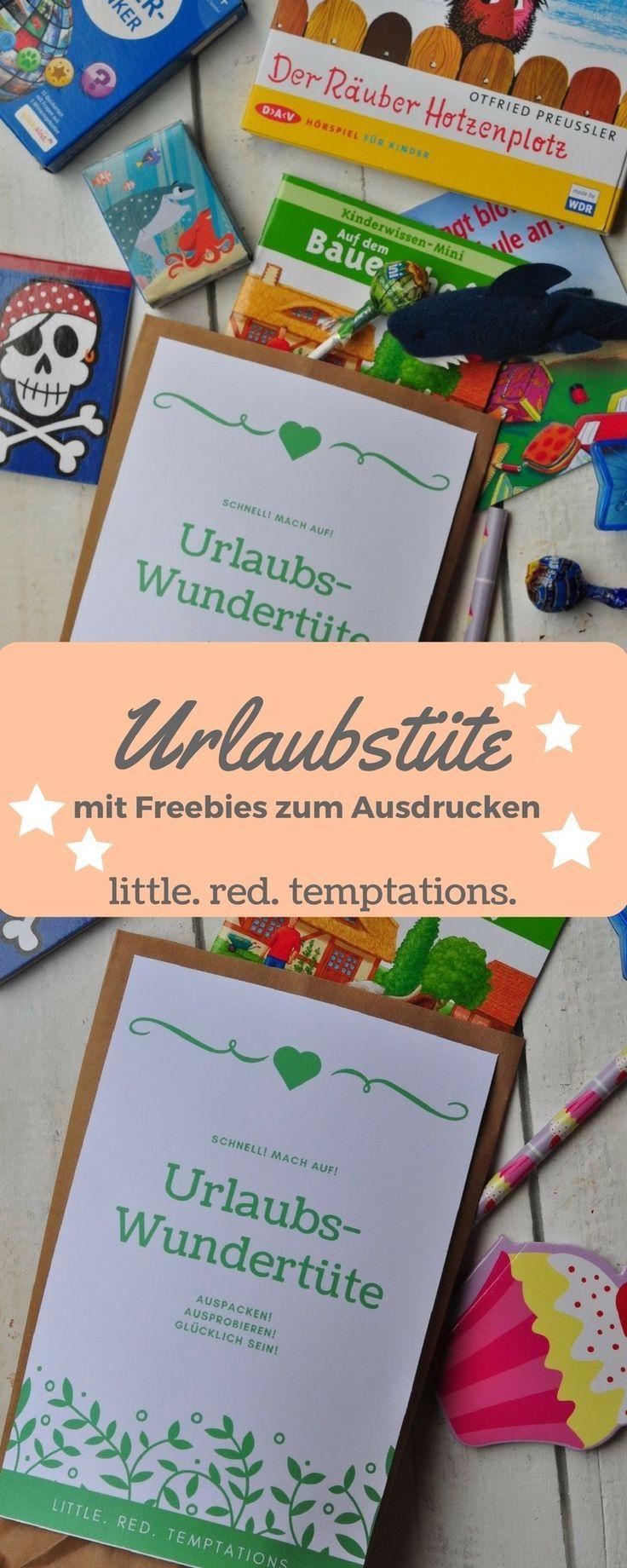 reisen mit kindern die urlaubstüte  little red