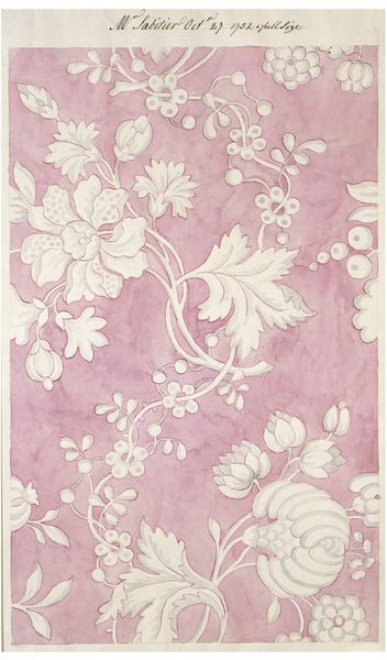 Design for textile by Anna Maria Garthwaite, 1752, Spitalfields, England. Now in the V & A's collection.