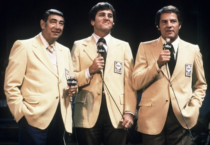 Howard Cosell - Don Meredith - Frank Gifford - Monday Night Football. Best broadcast team ever! Spent many Monday nights watching these guys.