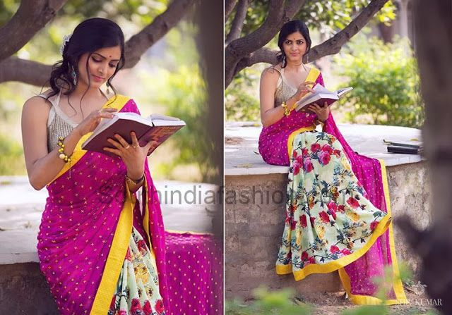 Bhargavi Kunam ~ Celebrity Sarees, Designer Sarees, Bridal Sarees, Latest Blouse Designs 2014 South India Fashion