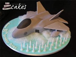 Fighter Jet 18th Birthday Cake - Eat Sleep Dream Cakes