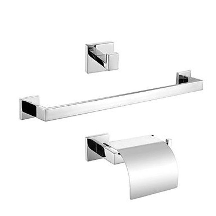 CNLG- Contemporary Mirror Polished Wall Mounted Bathroom Accessory Sets , Silver -- Awesome products selected by Anna Churchill