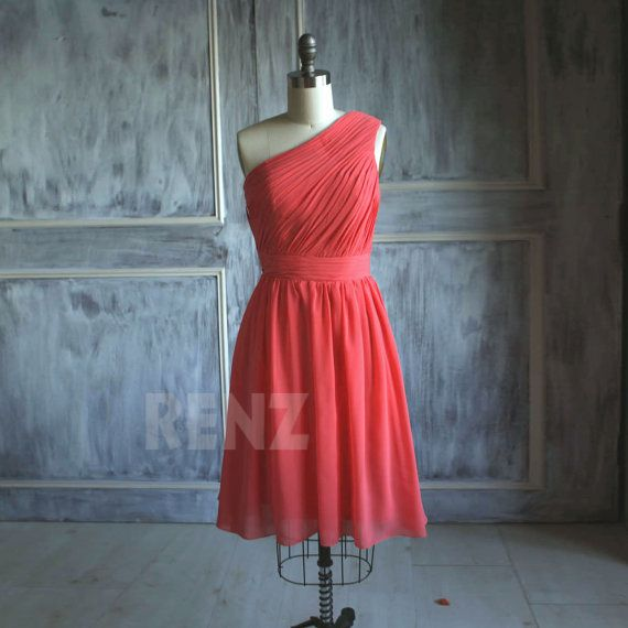 Hey, I found this really awesome Etsy listing at http://www.etsy.com/listing/175378725/chiffon-party-dress-coral-bridesmaid
