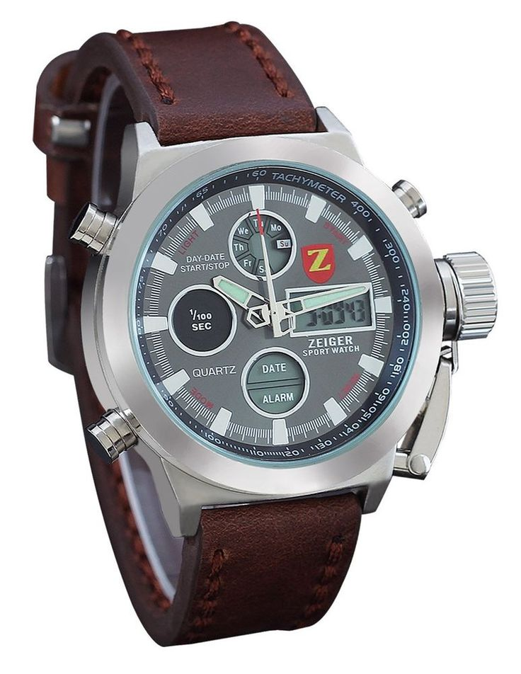 Zeiger Unusual Cool Special Forces Marine Corps Men LED Dual Time Zone Day Date   Jewelry & Watches, Watches, Parts & Accessories, Wristwatches   eBay!