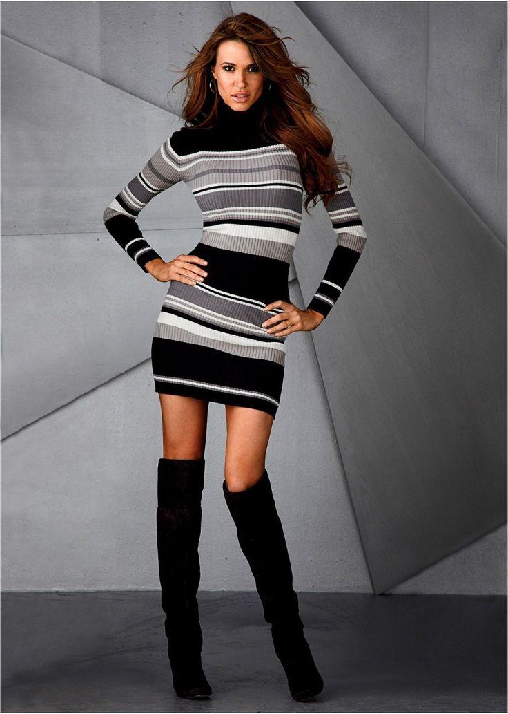 Pletené šaty Pásikované mini-šaty s • 22.99 € • Bon prix