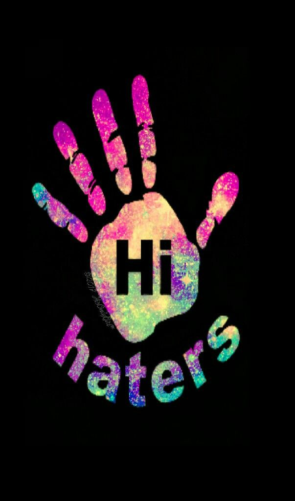 """Hi haters""iPhone/Android galaxy wallpaper I created for the app CocoPPa"